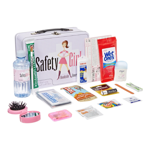 Safety Girl Survival Kit Emergency Care Package New Driver Birthday Gift